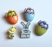 Пуговицы фигурные «Easter_1» Buttons Galore 6 шт.
