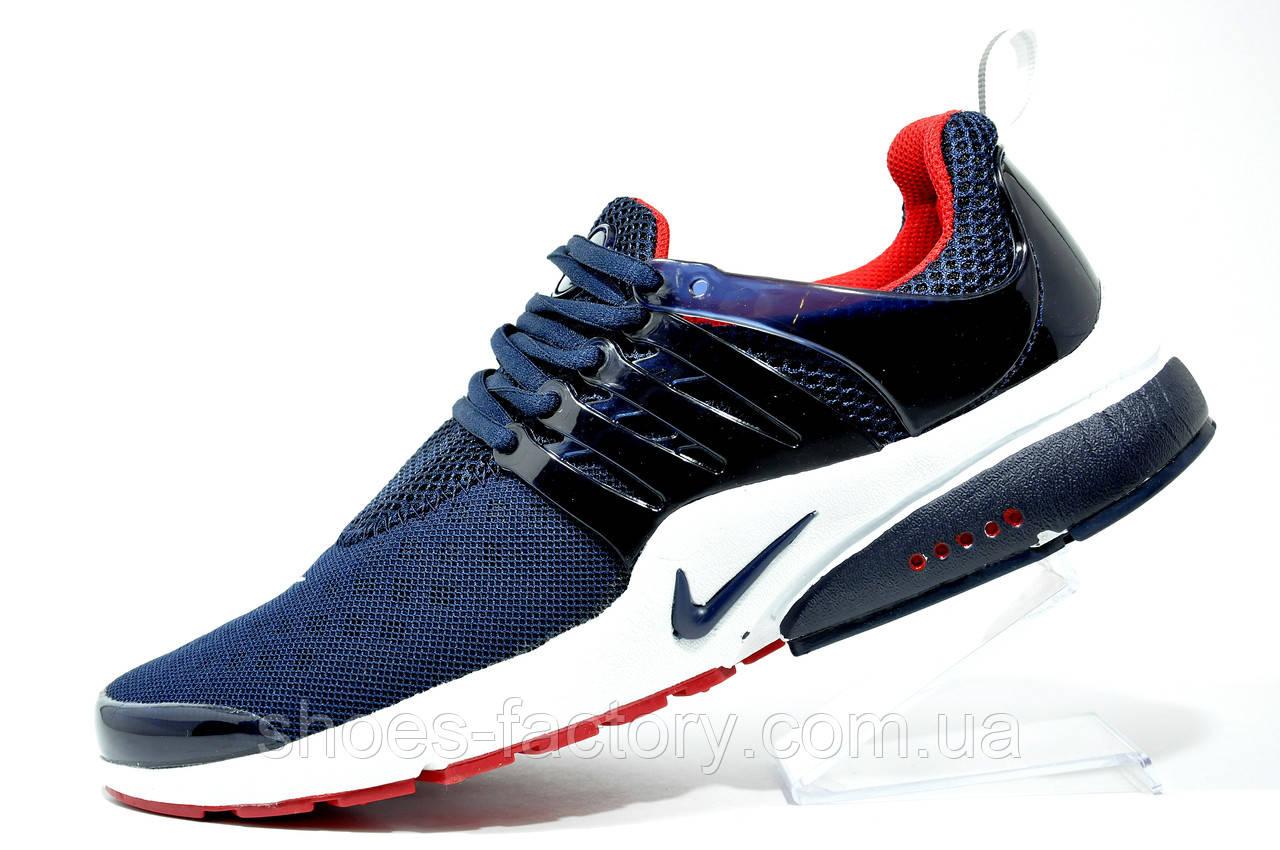 Беговые кроссовки в стиле Nike Air Presto, Dark Blue\White\Red