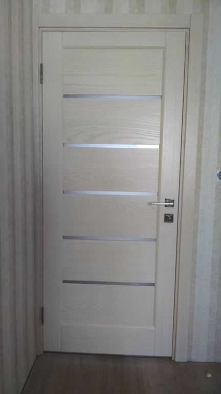 Установка дверей Терминус 37 модель ясень латте
