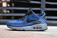 Кроссовки мужские Nike Air Max Sneakerboot, кроссовки найк аир макс снейкербут замшевые синие