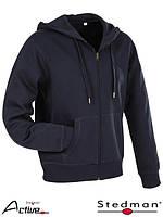 Блуза мужская на застежке с капюшоном SST5610 BLM