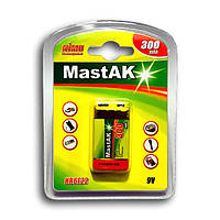 Аккумулятор MastAK Ni-MH  9V 6F22 300mAh