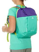 Детский качественный городской рюкзак 5 л. Quechua ARPENAZ Kid 2033565 зеленый с фиолетовым