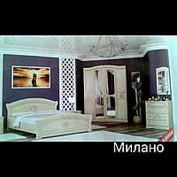 Набор мебели для спальни Милано (шкаф 4д, комод, зеркало, кровать, прикроватные тумбы)
