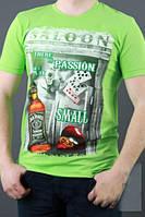 Молодежная мужская футболка с модным рисунком