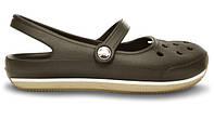 Женские кроксы Crocs Flats хаки
