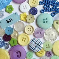 Пуговицы фигурные «Baby boy» Buttons Galore, фото 1