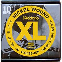 Струны D'Addario EXL125-10P Nickel Wound 9-46 10 set, фото 1