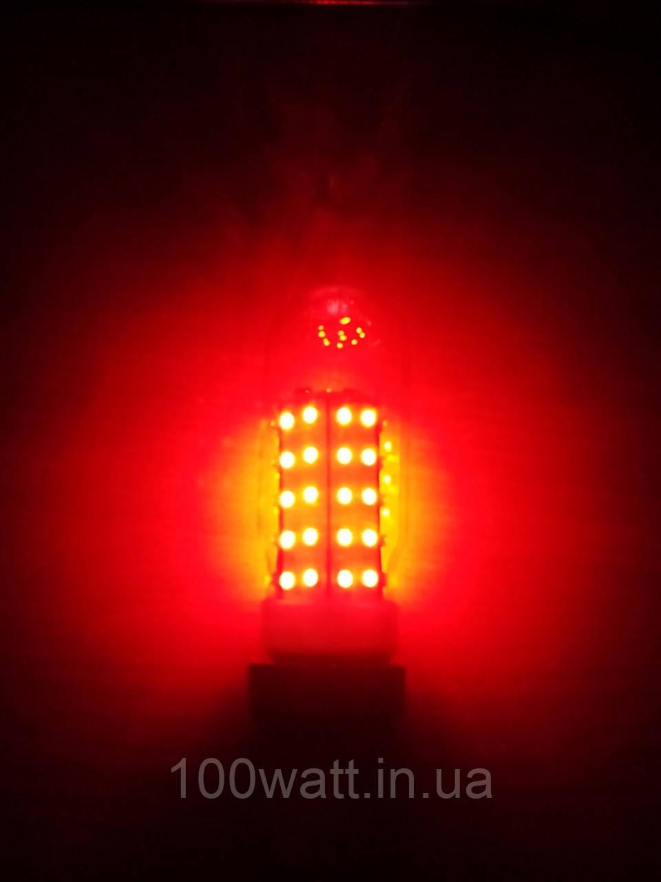 Лампа світлодіодна червона LED 5w E27 для загороджувальних світильників ЗОЛ-2, ЗОМ, НТУ-07С