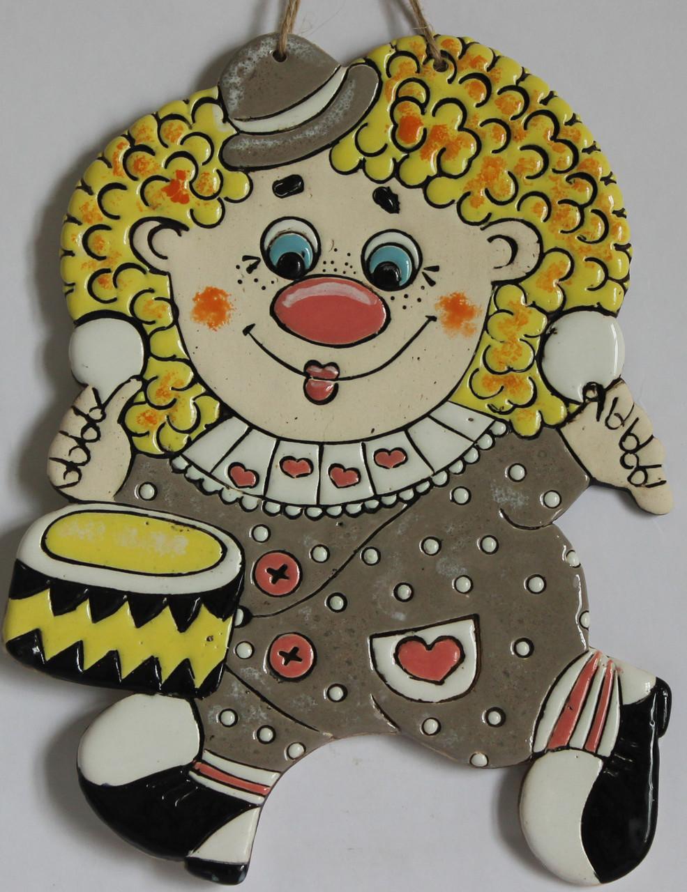 """Сувенир керамический """"Клоун Блондинчик"""""""