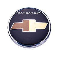 Колпачки заглушки для литых дисков Chevrolet черный с хромом