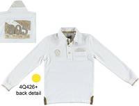 """Верх деми поло с длинным рукавом ткань """"пике"""", карман-обман с платочком, на спине  - нашивка мал. белый 100 %"""