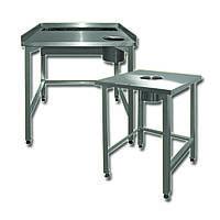 Столы для разделки и обработки продуктов, сбора пищевых отходов