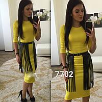 Платье с поясом лапша 16- 7702
