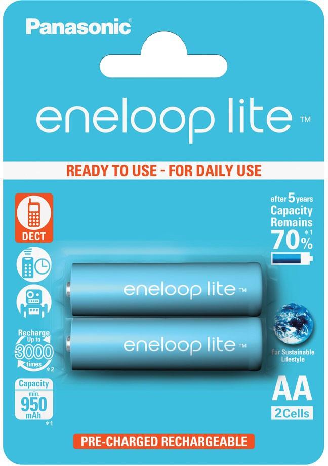 Аккумулятор PANASONIC  Eneloop LITE AA/R6 950mAh (2шт)
