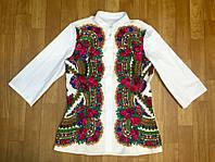 Рубашка женская комбинированная,воротник стойка