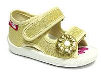 Детские сандали для девочки желтые размер 19-27 Renbut  Ортопедическая вкладка., фото 1
