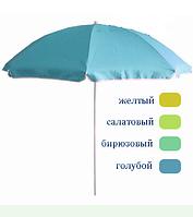 Зонт для пляжа, сада с серебряным покрытием 1,8 м