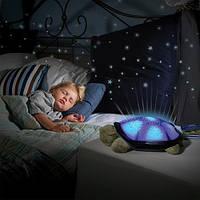 Ночник проектор звездного неба музыкальная черепаха Music Turtle Night Light, фото 1