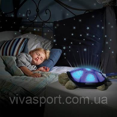 Ночник проектор звездного неба музыкальная черепаха Music Turtle Night Light