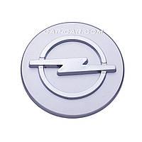 Колпачки заглушки для литых дисков Opel серый с хромом