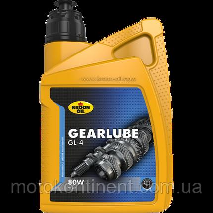 Трансмиссионное масло KROON OIL Gearlube GL-4 80W  для механической коробки передач  минеральное  5л., фото 2