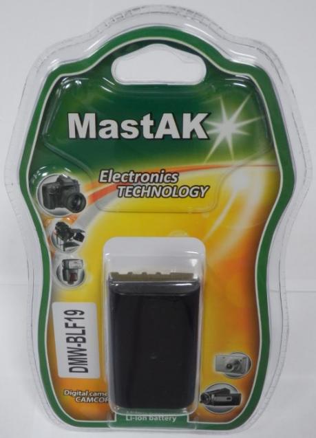 """Аккумулятор к фотокамере Panasonic тм""""MastAK""""  DMW-BLF19 7,2V1400mAh"""