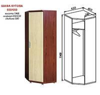 Шкаф угловой Омега 650/650 (ширина 65см, глубина 38см))