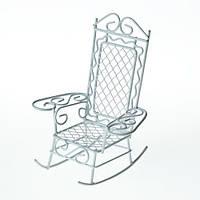Металлическое мини кресло-качалка, 8,5х7,5х10см