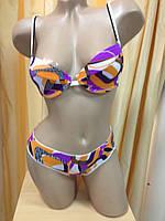 Комплект нижнего белья оранжево-фиолетовые разводы, фото 1