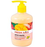 Жидкое крем-мыло с дозатором Mango Carambola