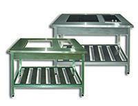 Столы нержавеющие для индукционных панелей, жарочных поверхностей, электроплит
