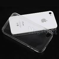 Прозрачный силиконовый чехол для Apple iPhone 4/4S