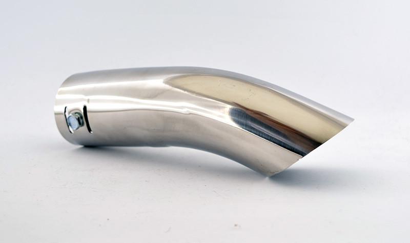 Насадка на глушитель автомобиля с изгибом 46-28 мм
