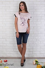 Джинсовые шорты для беременных Juli SH-26.042 синие с потертостями