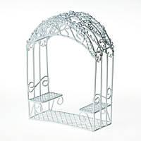 Металлическая мини-беседка садовая, 5х4х12см