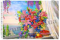 Схема для вышивки бисером Нежные лилии