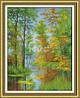 """Набор для вышивки крестом  """"Осень на реке"""""""