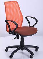 Кресло Oxi АМФ-4 сиденье Поинт-70, спинка Сетка оранжевая