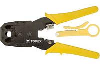 Клещи обжимные Topex 4P, 6P, 8P 195mm