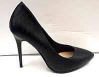 Туфли женские на шпильке кожа питона KF0303