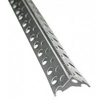 Уголок алюминиевый перфорированный длина 2,5м, штука