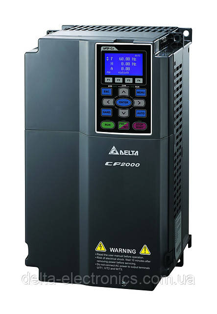 Перетворювач частоти Delta Electronics, 7,5 кВт, 400В,3ф.,векторний, c ПЛК,VFD075CP43A-21