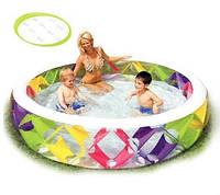 Бассейн с прозрачными стенками +надувной пол ТМ Intex