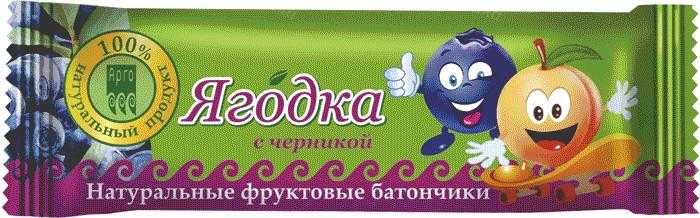 Батончик фруктовый - Ягодка - с черникой