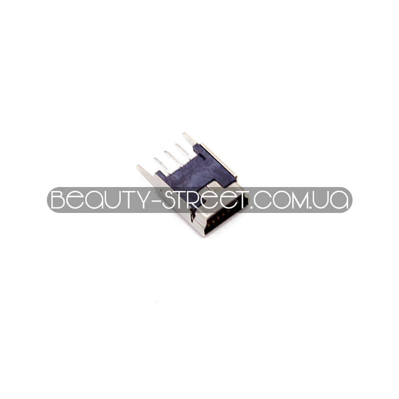 Разъем mini-USB мама DIP (180 град)