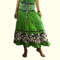 Женская летняя юбка Зеленая
