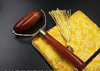 Массажер-валик  из камня Сердолик 12 см