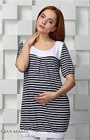 Туника для беременных Francis полоска индиго-белый-С,М