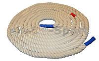 Канат тренировочный  для лазанья и занятий спортом (хлопок длина 10 м D-3 )